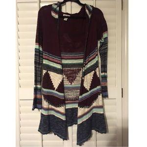 Mudd multicolored cardigan sweater